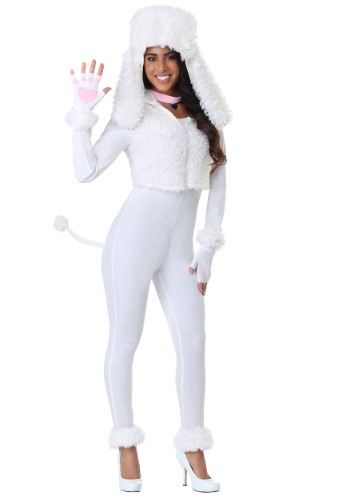White Poodle Costume for Women