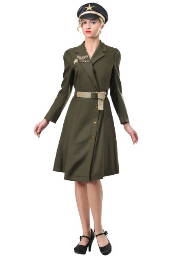 Click Here to buy Plus Size Bombshell Military Captain Womens Costume from HalloweenCostumes, CDN Funds & Shipping