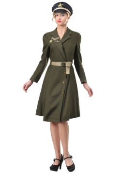 Plus Size Bombshell Military Captain Costume