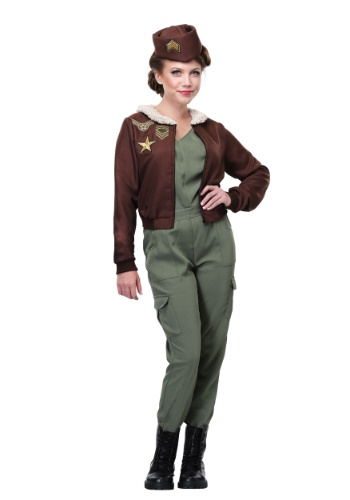 Womens Vintage Flight Officer Plus Size Costume