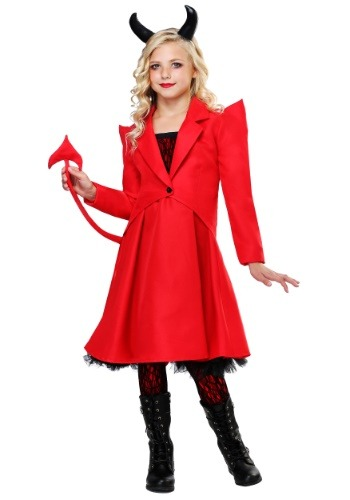 Click Here to buy Devilish Diva Girls Costume from HalloweenCostumes, CDN Funds & Shipping