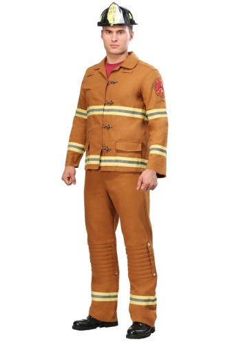 Click Here to buy Tan Firefighter Uniform Mens Costume from HalloweenCostumes, CDN Funds & Shipping