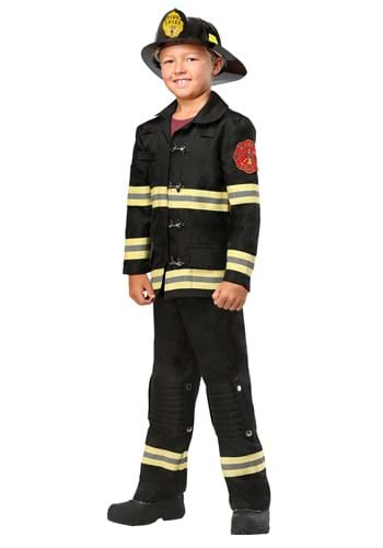 Click Here to buy Black Uniform Firefighter Kids Costume from HalloweenCostumes, CDN Funds & Shipping