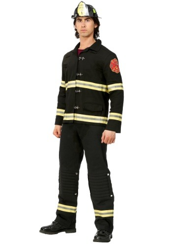 Click Here to buy Black Uniform Firefighter Mens Costume from HalloweenCostumes, CDN Funds & Shipping