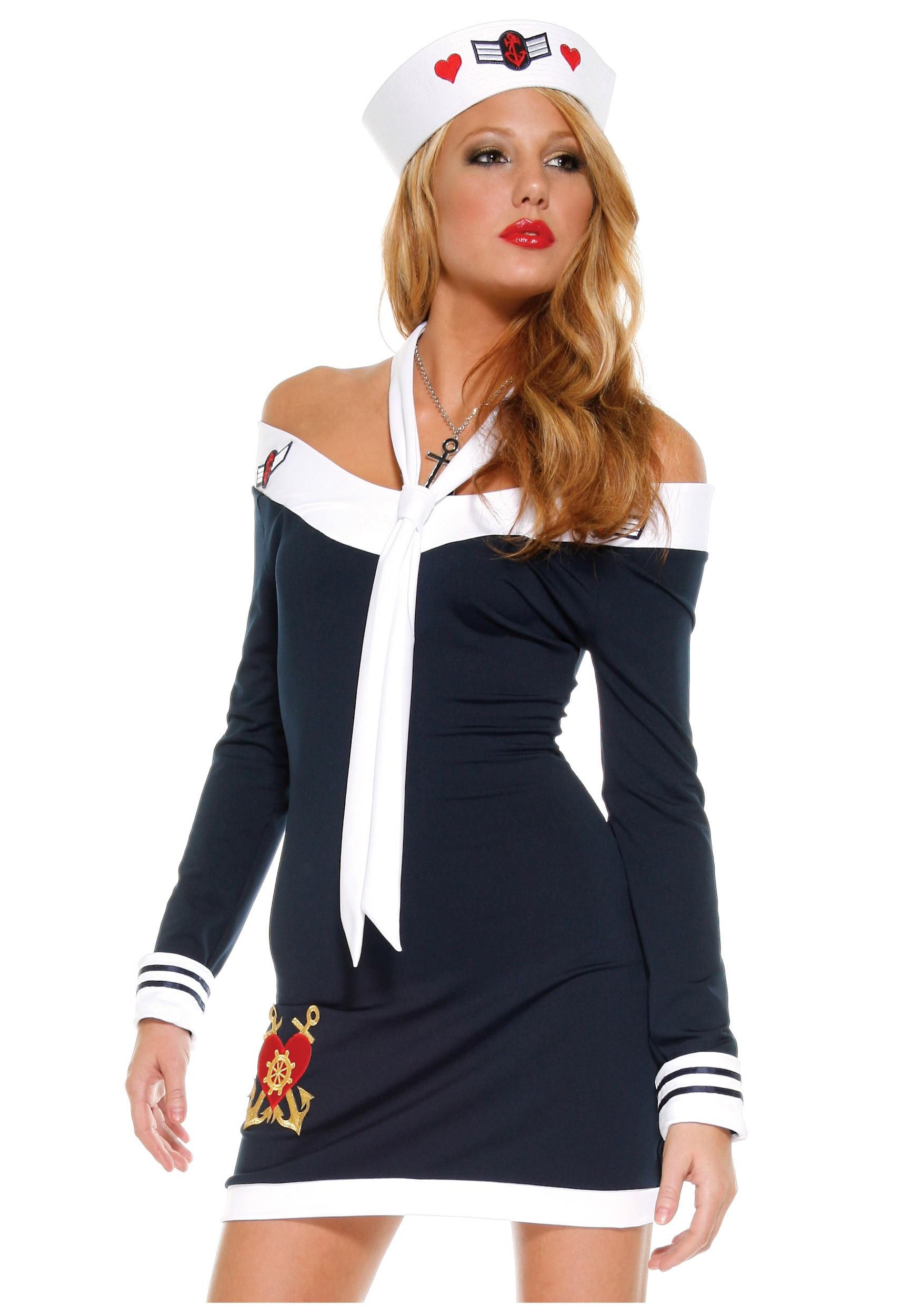Sexy navy girl costume