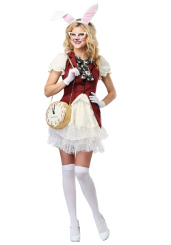 Women's White Rabbit Costume