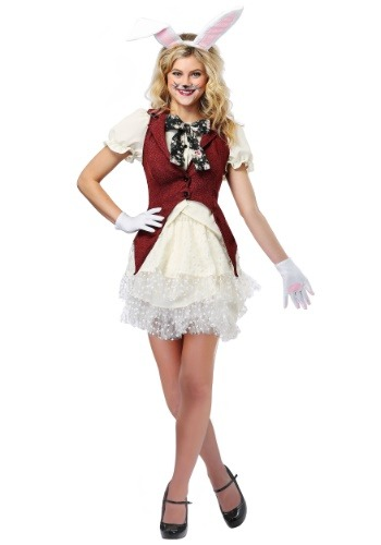 Click Here to buy White Rabbit Womens Costume from HalloweenCostumes, CDN Funds & Shipping