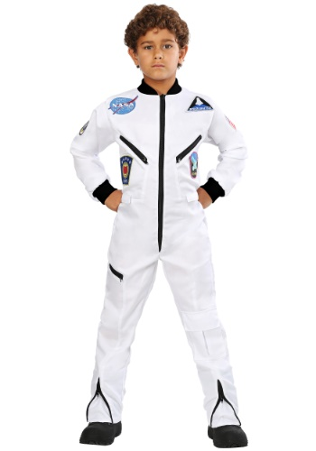 Click Here to buy Kids White Astronaut Jumpsuit Costume from HalloweenCostumes, CDN Funds & Shipping