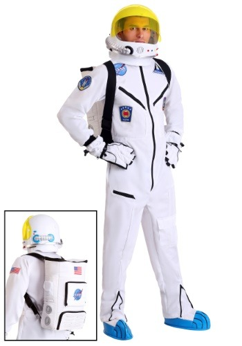 Adult White Astronaut Jumpsuit Costume
