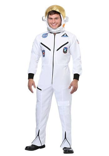 Click Here to buy White Astronaut Jumpsuit Adult Costume from HalloweenCostumes, CDN Funds & Shipping