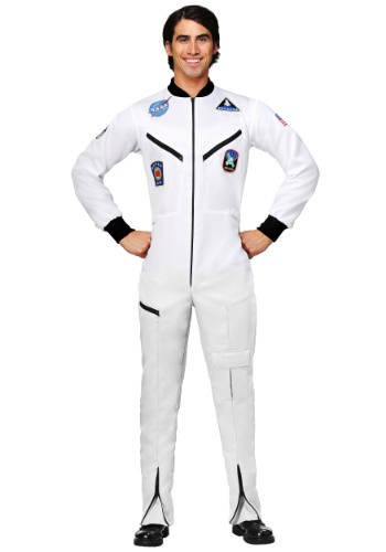Click Here to buy White Astronaut Jumpsuit Plus Size Adult Costume from HalloweenCostumes, CDN Funds & Shipping