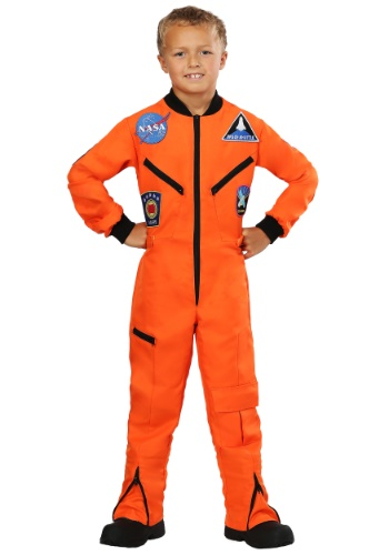 Click Here to buy Orange Astronaut Jumpsuit Kids Costume from HalloweenCostumes, CDN Funds & Shipping