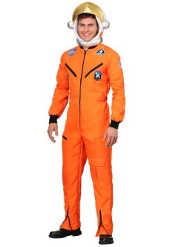 Orange Astronaut Jumpsuit Costume