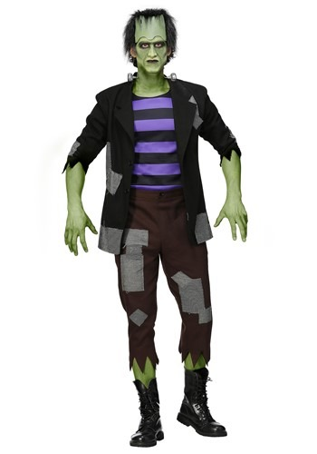 Click Here to buy Frankensteins Mens Plus Size Monster Costume from HalloweenCostumes, CDN Funds & Shipping