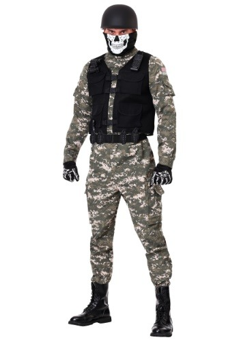 Click Here to buy Battle Soldier Mens Costume from HalloweenCostumes, CDN Funds & Shipping