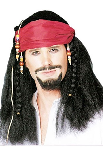 Pirate Braided Wig with Bandana