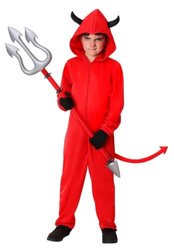Child Devil Jumpsuit Costume