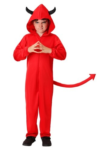 Click Here to buy Kids Jumpsuit Devil Costume from HalloweenCostumes, CDN Funds & Shipping