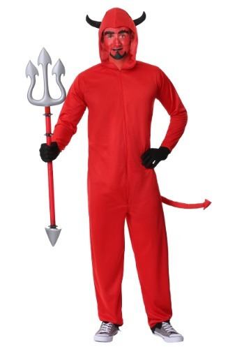 Click Here to buy Plus Size Devil Jumpsuit Costume from HalloweenCostumes, CDN Funds & Shipping