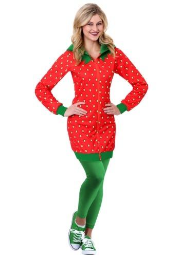 Strawberry Hoodie Dress