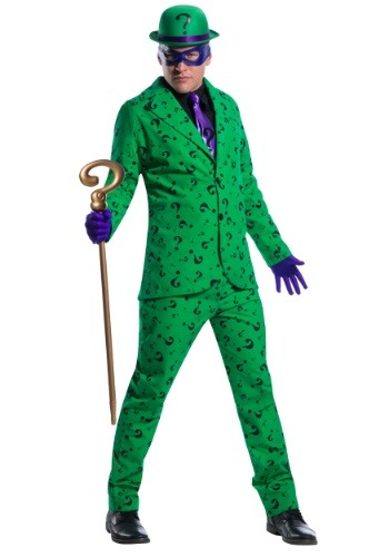 Click Here to buy Mens Riddler Costume from HalloweenCostumes, CDN Funds & Shipping