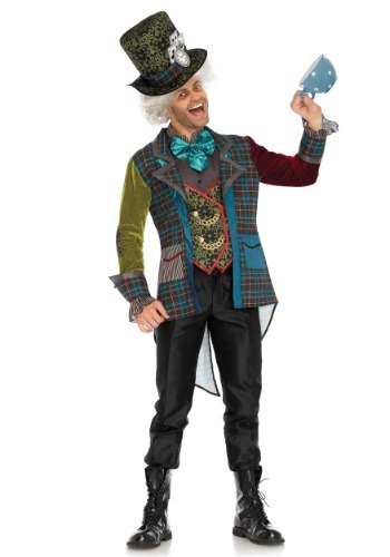 Click Here to buy Colorful Mad Hatter Mens Costume from HalloweenCostumes, CDN Funds & Shipping