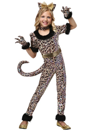 Girls Leopard Jumpsuit