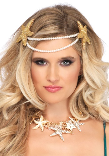 Mermaid Pearl Starfish Headband
