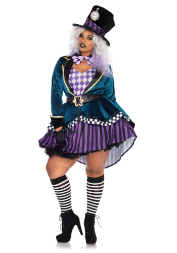 Click Here to buy Plus Size Ladies Delightful Mad Hatter Costume from HalloweenCostumes, CDN Funds & Shipping