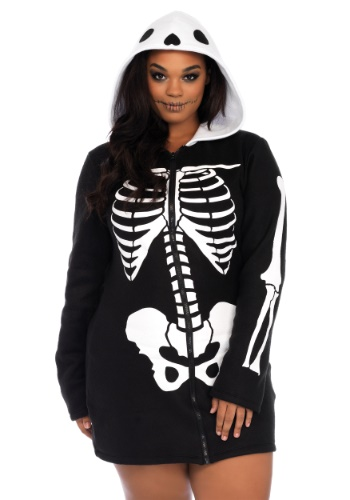 Click Here to buy Plus Size Cozy Skeleton Womens Costume from HalloweenCostumes, CDN Funds & Shipping