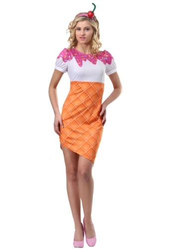 Click Here to buy Ice Cream Cone Womens Costume from HalloweenCostumes, CDN Funds & Shipping