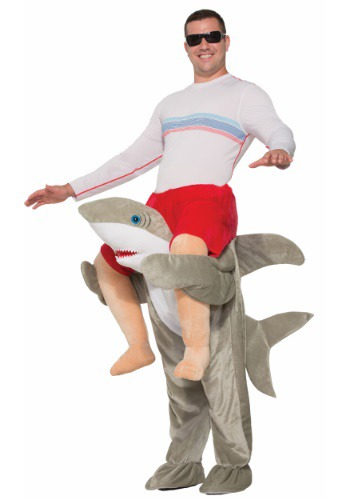 Click Here to buy Ride a Shark Costume for Adults from HalloweenCostumes, CDN Funds & Shipping