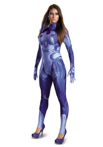 Click Here to buy Halo Cortana Bodysuit Womens Costume from HalloweenCostumes, CDN Funds & Shipping