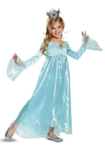 Click Here to buy Super Mario Rosalina Deluxe Girls Costume from HalloweenCostumes, CDN Funds & Shipping