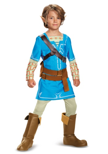 Click Here to buy Legend of Zelda Breath of the Wild Link Deluxe Boys Costume from HalloweenCostumes, CDN Funds & Shipping