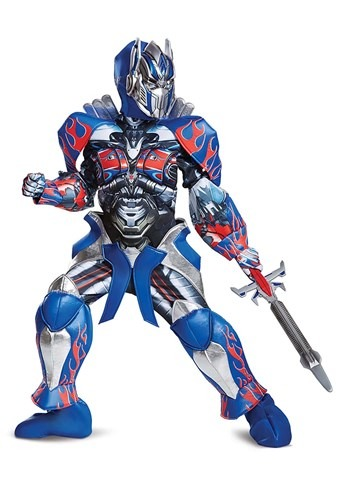 Click Here to buy Optimus Prime Kids Prestige Costume from the Transformers from HalloweenCostumes, CDN Funds & Shipping