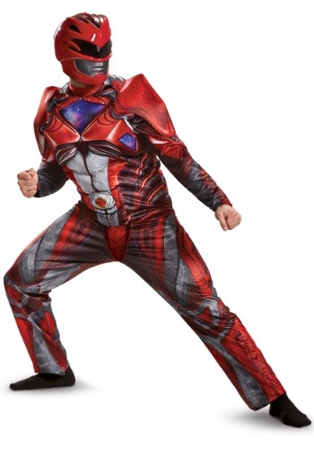 Click Here to buy Power Rangers Movie Red Ranger Deluxe Mens Costume from HalloweenCostumes, CDN Funds & Shipping