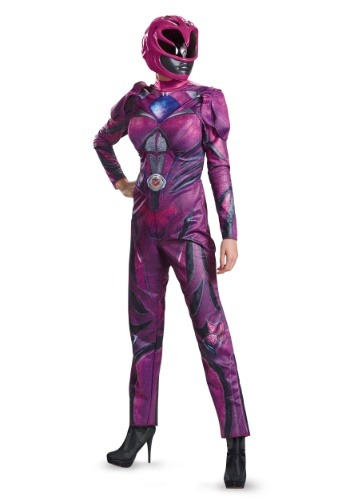 Click Here to buy Power Rangers Movie Pink Ranger Deluxe Womens Costume from HalloweenCostumes, CDN Funds & Shipping