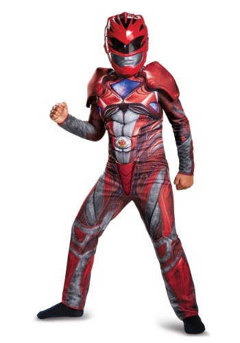 Click Here to buy Red Ranger Kids Classic Muscle Costume from the Power Rangers Movie from HalloweenCostumes, CDN Funds & Shipping
