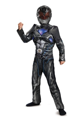 Power Rangers Movie Black Ranger Boys Deluxe Costume