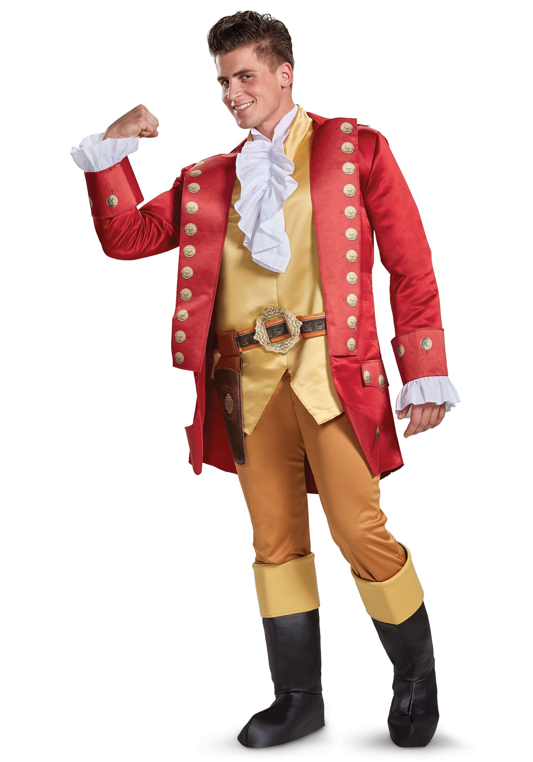 beauty and the beast gaston deluxe mens costume