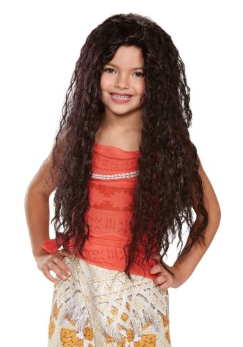 Click Here to buy Disney Moana Deluxe Kids Wig from HalloweenCostumes, CDN Funds & Shipping