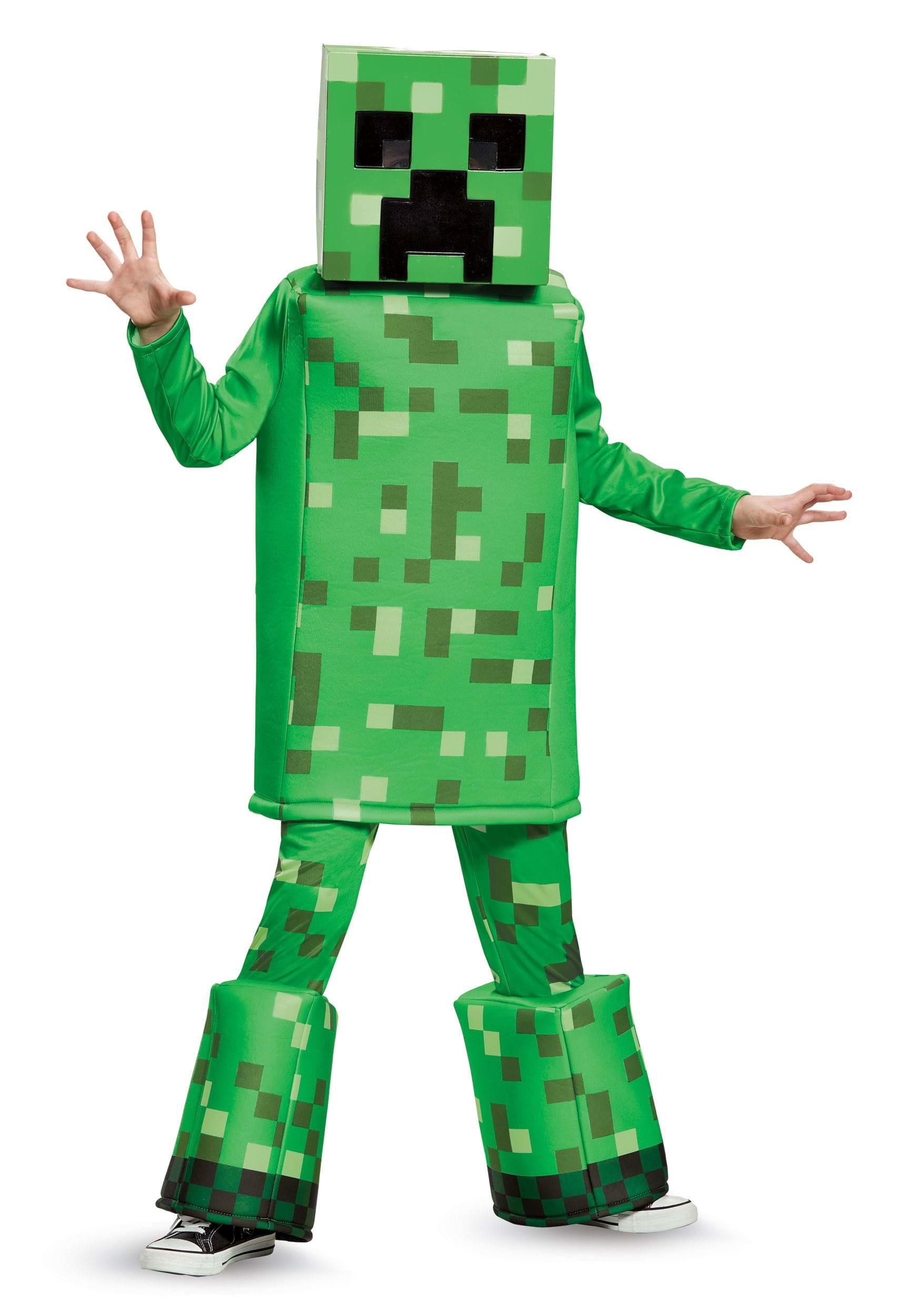 Minecraft creeper prestige costume for boys - Minecraft creeper and steve ...