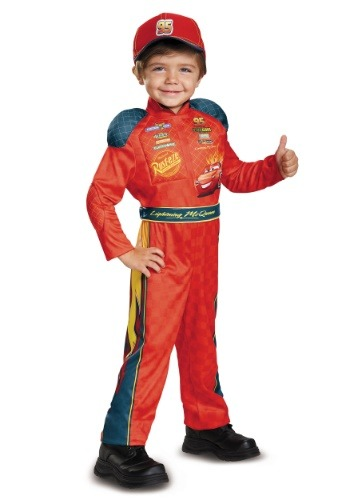 Click Here to buy Lightning McQueen Classic Toddler Costume from Cars from HalloweenCostumes, CDN Funds & Shipping