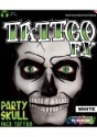 White Party Skull Tattoo Kit