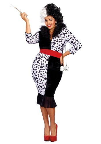 Dalmatian Diva Womans Plus Size Costume