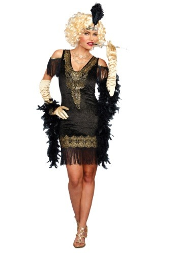 Click Here to buy Swanky Womens Flapper Costume from HalloweenCostumes, CDN Funds & Shipping