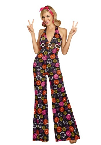 Groovy Baby Womens Jumpsuit Costume