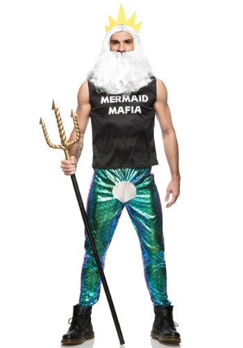 Click Here to buy Mermaid Mafia Mens Costume from HalloweenCostumes, CDN Funds & Shipping