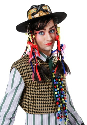 Chameleon Pop Star Hat w/ Wig for Men